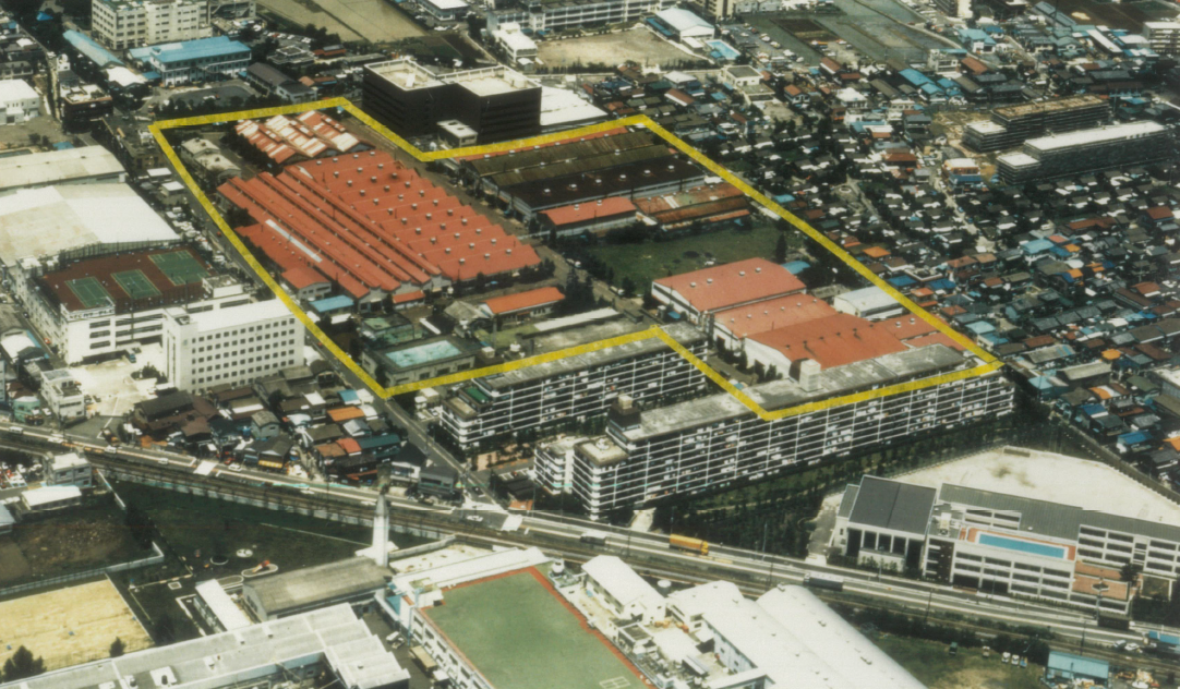 Ikegai Iron Works Mizoguchi Head Office Factory at the time of land acquisition (aerial photography)